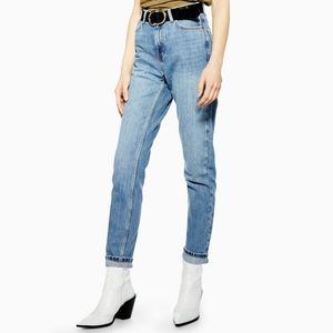 TOPSHOP Mid Blue Mom Jeans